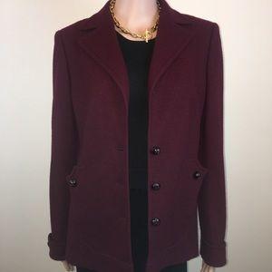 Gorgeous Rene Lange burgundy jacket, Sz. M